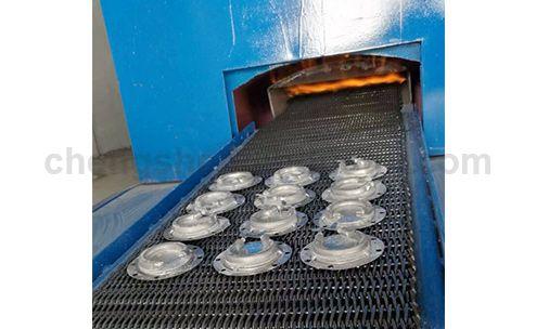 Heat Element Continuous Mesh Belt Aluminum Brazing Furnace