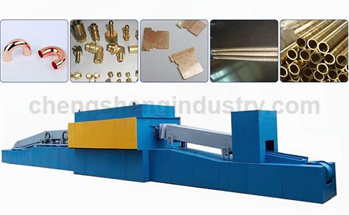 Continuous Conveyor Belt Cooper Tube / Pipe / Bar Bright Annealing Furnace