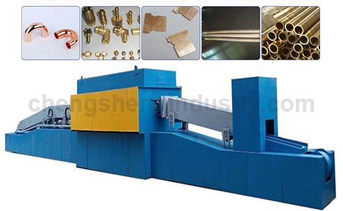 Continuous Mesh Belt Conveyor Controlled Atmosphere Copper Bright Annealing Furnace