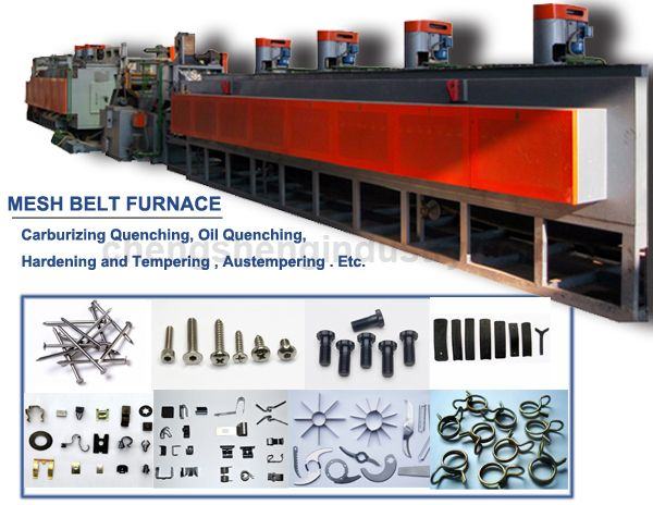 Continuous Mesh Belt Carburizing Hardening and Tempering Furnace