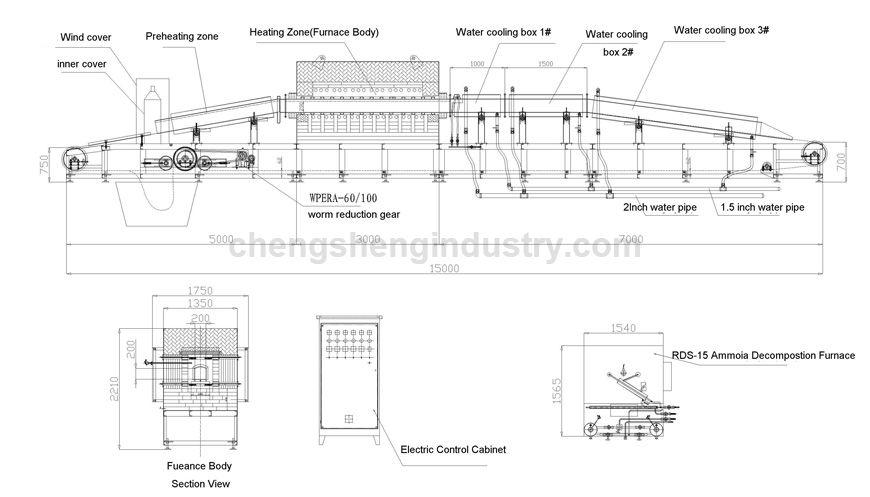 Surgical Instrument Convey Belt Bright Hardening Heat Treatment Furnace