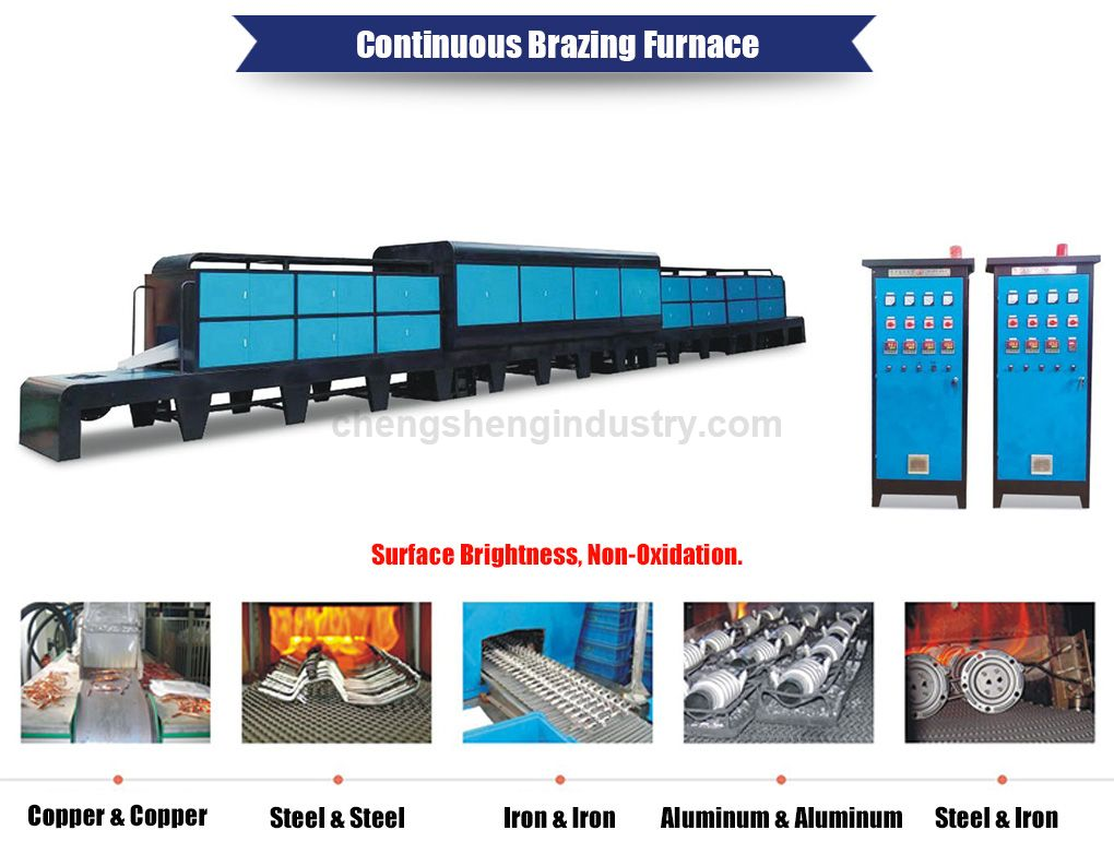 Continuous Mesh Belt Controlled Atmosphere Brazing Furnace