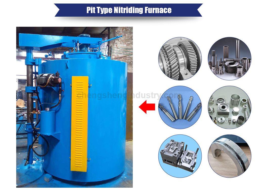 Pit Type Vacuum Gas Nitriding Heat Treatment Furnace