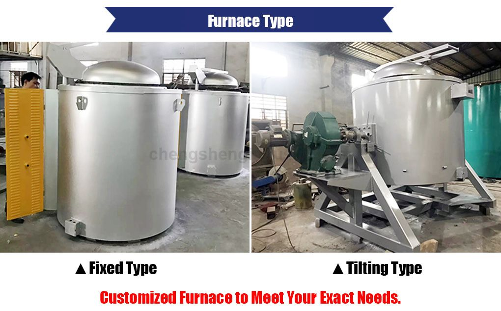 Aluminum Melting Holding Furnace for Cast Machine