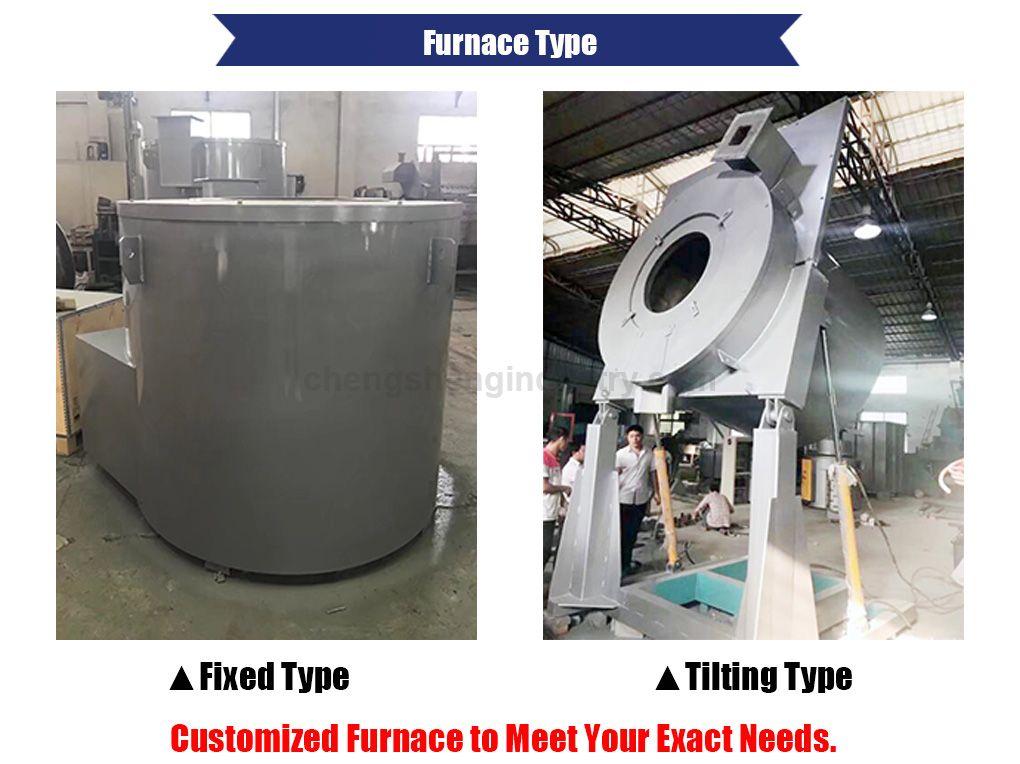 Natural Gas Fired Aluminum Melting Furnace