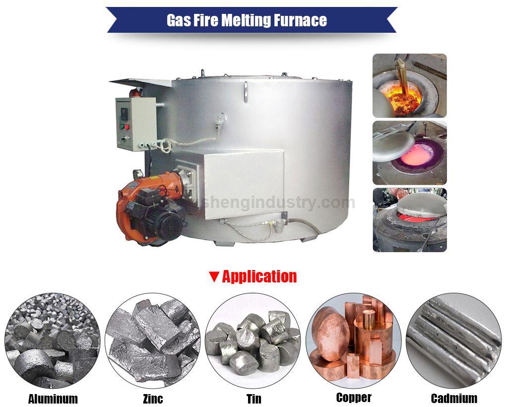 Gas Fired Crucible Aluminum Melting Furnace