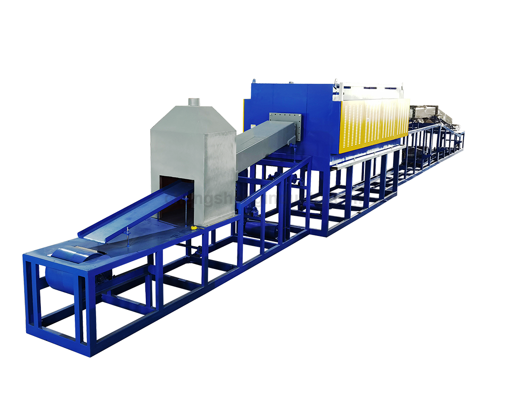 Newly continuous bright stainless steel annealing heat treatment furnace for stamping parts